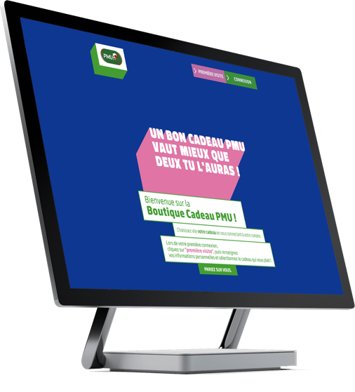 Capture d'écran de la plateforme PMU